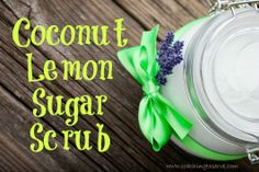 Coconut Lemon Sugar Scrub
