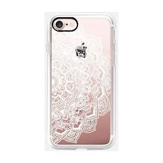 Casetify Marble Lace Mandala Iphone 7 Case White By ($40) ❤ liked on Polyvore featuring accessories, tech accessories and electronics accessories