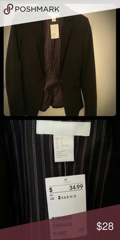 H&M Jersey blazer New with a tag. Black blazer by H&M. Never worn. In perfect condition. Size 2 H&M Jackets & Coats Blazers