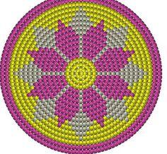 Billedresultat for crochet pattern wayuu bag Tapestry Crochet Patterns, Crochet Motifs, Crochet Chart, Filet Crochet, Crochet Stitches, Chat Crochet, Crochet Home, Diy Crochet, Mochila Crochet