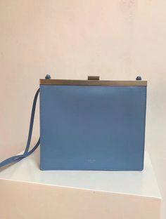 Celine bags 2018 cheap Celine Mini Clasp Shoulder Bag in blue Natural  Calfskin Celine Bag 2017 d192722da4ba7