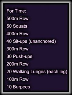 crossfit workout with rowing machine