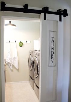 Basement Laundry Room Decorations Ideas And Tips 2018 Small laundry room ideas Laundry room decor Laundry room makeover Farmhouse laundry room Laundry room cabinets Laundry room storage Box Rack Home Laundry Room Doors, Laundry Room Remodel, Farmhouse Laundry Room, Laundry Closet, Laundry Room Organization, Small Laundry, Laundry Room Design, Laundry In Bathroom, Organization Ideas