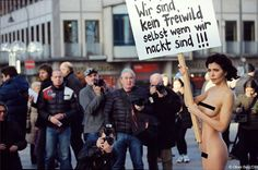 Performance Artist Stands Nude in Germany To Protest Wave of Attacks on Women Frei Wild, Creators Project, Spiegel Online, Feminist Art, Female Art, The Past, Cinema, Politics, Nude