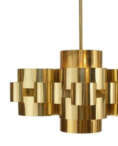Polished Brass 'Cloud' Form Chandelier by Curtis Jere | From a unique collection of antique and modern chandeliers and pendants  at http://www.1stdibs.com/furniture/lighting/chandeliers-pendant-lights/