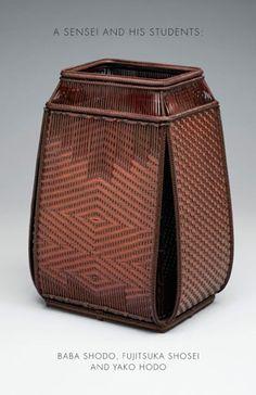 A Sensei and His Students; publication of TAI Gallery Bamboo Weaving, Weaving Art, Basket Weaving, Woven Baskets, Bamboo Art, Bamboo Crafts, Japanese Interior, Japanese Design, Livres