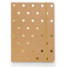 gold polka dot journal