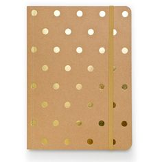 gold polka dot journ