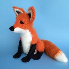 PDF Crochet Pattern of Little Red Fox there are a few that I like here...frog...llama...etc