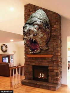 Stuffed Rancor Head