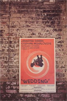 Cool.  A designed poster for your wedding.