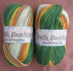 Earth Tones Mix Bell Bambina  Baby Double Knitting Yarn / Wool £2.45 for 100 gram ball or £12 for 5 balls plus P&P.