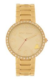 Betsey Johnson 'Lots 'n' Lots of Time' Textured Dial Bracelet Watch