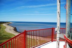 Looking out to see from the Miscou Island lighthouse in New Brunswick, Canada.