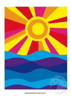 Sole e mare Colori caldi e freddi | Lavoretti Creativi