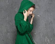 Verde abrigo, abrigo de lana, abrigo, abrigo maxi, abrigos para mujer, llamarada capa, botón de abrigo, capa de midi, calle invierno, capa extravagante 1347