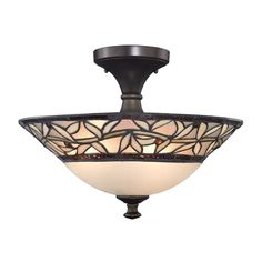 Design Classics Lighting Tiffany Ceiling Light | 1623 TB | Destination Lighting