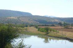 Tirímacuaro, panorámica 3. Rumbo a Ziquítaro. A la derecha, la barranca y al fondo, una silueta del que parece ser el Cerro del Metate. Foto de Eusevio Hernández Zenteno. Tomada de Mi Penjamillo.