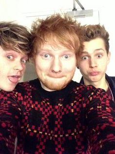 connor and james with ed sheeran || my favorite artists on one pic. Cant believe it *-*