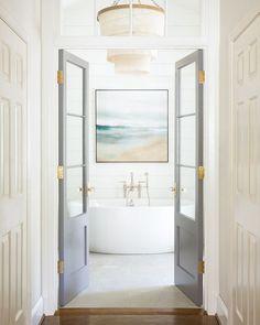 Modern home design Bathroom Inspiration, Coastal Bathrooms, Bathroom Inspiration Decor, Modern Interior Design, Atlanta Homes, Bathrooms Remodel, Bathroom Decor, Decor Interior Design, Bathroom Doors
