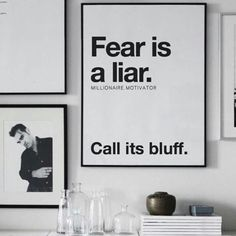 Fear is a liar.Call its bluff Quotes To Live By, Life Quotes, Entrepreneur, Family Motto, Stories Of Success, Perfection Quotes, Note To Self, Wise Words, Encouragement