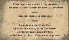 Virelangues: pour tous les gourmands de mots et de sons... A vous de jouer ! - learn French,tonguetwisters