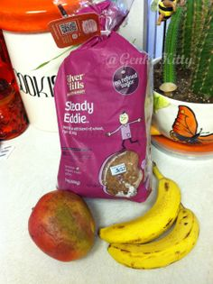 Vegan Breakfast: Flour-less sprouted bread, mango and banana. #vegan # ...