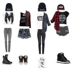 """""""Untitled #77"""" by lillian-milo ❤ liked on Polyvore featuring Glamorous, Doma, Motel, Hat Attack, H&M, adidas, Pull&Bear, Abercrombie & Fitch, Versace and NIKE"""