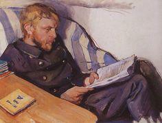 Zinaida Serebriakova- Portrait of Boris Serebryakov (1908)