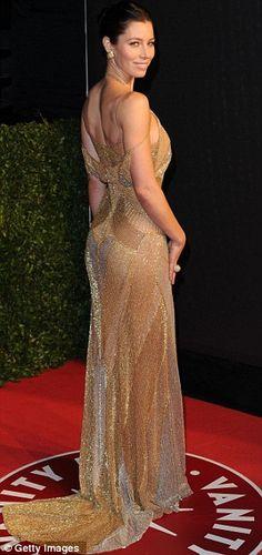 Jessica Biel - Versace dress