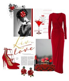 """Lady In Red"" by kewelco ❤ liked on Polyvore"