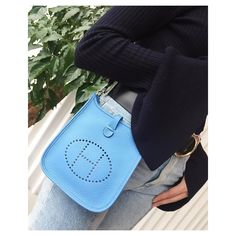 #hermes #evelyne #blue #bag