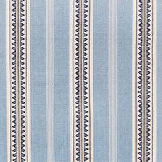 blue woven stripe fabric for upholstery and window treatments… Interior Window Trim, Interior Paint, Dark Interiors, Textiles, Roman Blinds, Home Decor Fabric, Fabric Wallpaper, Velvet Pillows, Interiores Design