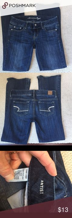 "American Eagle Live your Life Artist jeans AE Live your Life Artist bootcut jeans. Size 2 short.  29"" inseam. 15"" waist. Great condition. 99% cotton and 1% spandex. American Eagle Outfitters Jeans Boot Cut"