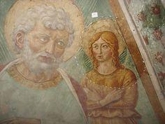 Benozzo Gozzoli - Dettaglio del tabernacolo della Madonna della Tosse - 1484 - affreschi staccati - BEGO-Museo Benozzo Gozzoli - Castelfiorentino