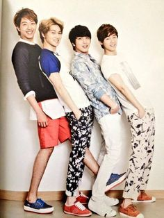 CNBlue but thats not fair yonghwa is the shortest