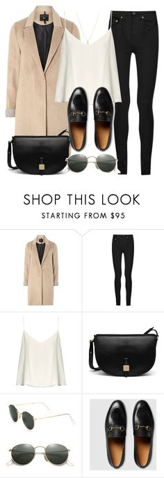 """Style #11385"" by vany-alvarado ❤ liked on Polyvore featuring mel, Yves Saint Laurent, Raey, Mulberry, Ray-Ban, Gucci and Laura Lee Jewellery"