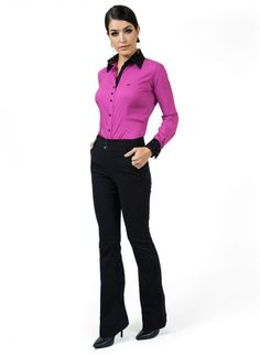 calca feminina flare cintura alta preta principessa dina look completo