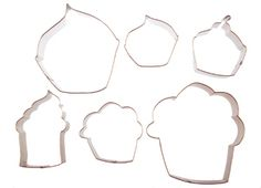 Cupcake cookie cutters...must have this set!