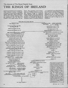 The descent of The Royal Family from The Kings Of Ireland - Irish history Susan Sullivan, Royal Family Trees, Irish Eyes Are Smiling, Celtic Culture, Irish Pride, Irish Roots, Family Genealogy, Family History, England