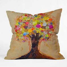 DENY Designs Elizabeth St Hilaire Nelson Summer Tree Polyester Throw Pillow | AllModern