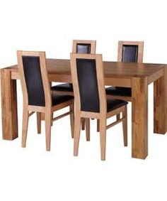 Buy Warwick Oak Dining Table And 4 Black Chairs At Argos Co Uk Visit Argos Co Uk To Shop Online For Dining Sets