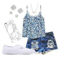 """summer"" by syd-squid-1 on Polyvore featuring Vans, Givenchy, Bloomingdale's and Kendra Scott"