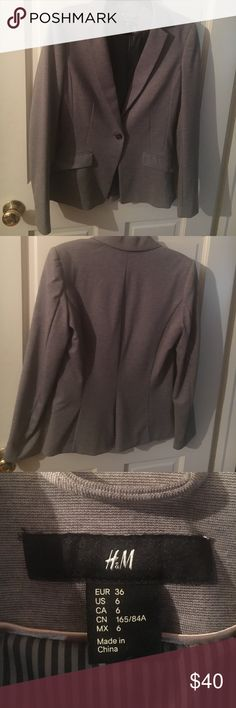 BNWOT grey blazer Brand new never worn blazer from h&m. Perfect condition. H&M Jackets & Coats Blazers