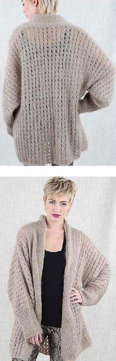 Free Knitting Pattern Women's Cosy Jacket