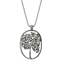 Femme Metale Tree Of Life Charm Necklace