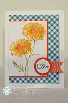 gingham flowers by Amy O'Neill -- Freshly Made Sketches #130