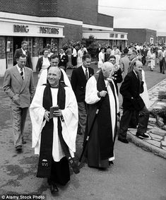 Dr. Cyril Garbett, the Archbishop of York visiting Butlins Holiday Camp, Filey, North Yorkshire, in 1954