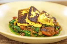 For this great vegetarian Halloumi with Ratatouille dish the way you cook the vegetables is key to the success of the recipe! Vegetable Dishes, Vegetable Recipes, Vegetarian Recipes, Healthy Recipes, Seafood Recipes, New Recipes, French Recipes, Recipies, Favorite Recipes