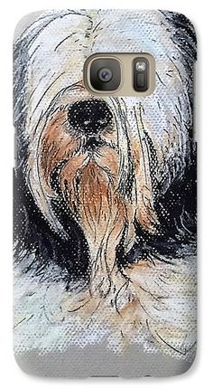 Maltese Terrier Dog: A design by Kelly Goss Art printed onto Samsung Galaxy cases - directly onto and wrapped around the edges. For various Galaxy models. Impact-resistant, hard-shell.